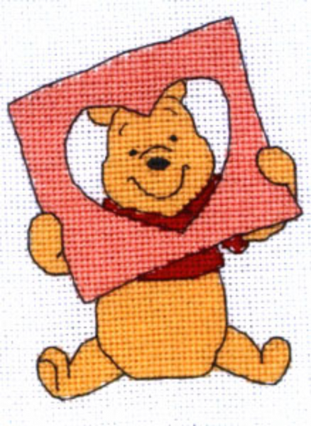 Disney Winnie the Pooh Poohs Peeping Heart Cross Stitch Kit
